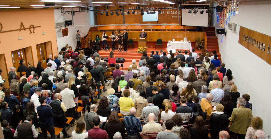 A Baptist church in Madrid./ UEE.,