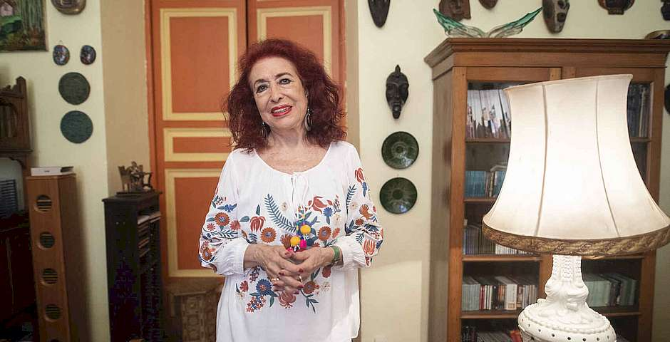 Lidia Falcón, a well-known Spanish feminist in Spain. She and others oppose the Trans Draft Law.,