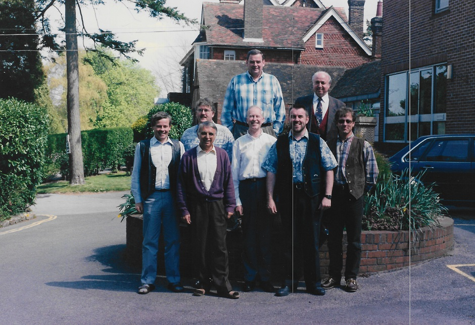 A meeting of the European Evangelical Alliance Executive Committee in England, April 1996. / Image: Apostolos D. Bliates, Greece.,