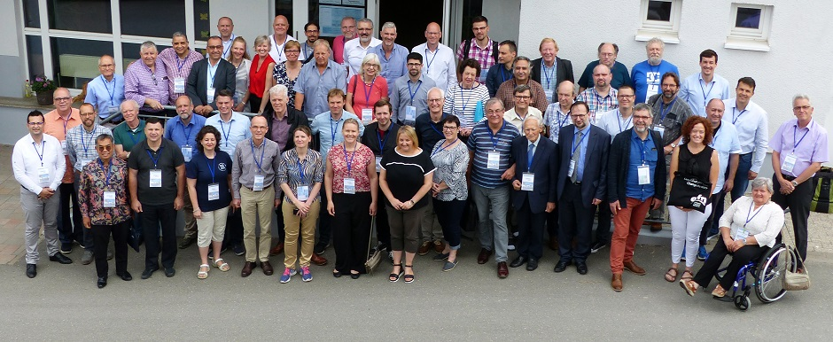 Group photo of the European Evangelical Alliance 2019 General Assembly 2019, in Germany. / Photo: Christoph Groetzinger.,
