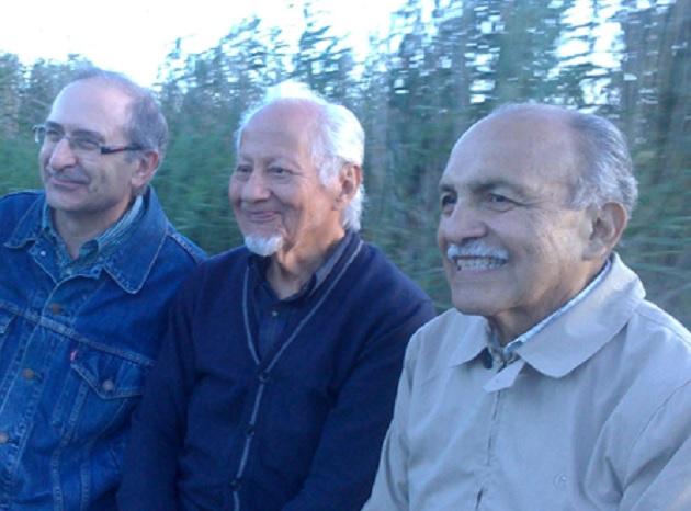 Co-workers Pedro Arana, C. René Escobar and Samuel Escobar, in 2016. / Photo: courtesy Escobar family