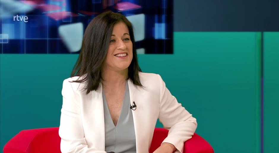 """Carolina Bueno, the next Executive Secretary of the Spanish Federation of Evangelical Religious Entities, in an interview with the Buenas Noticias TV programme. / <a target=""""_blank"""" href=""""https://www.rtve.es/"""">RTVE</a>,"""