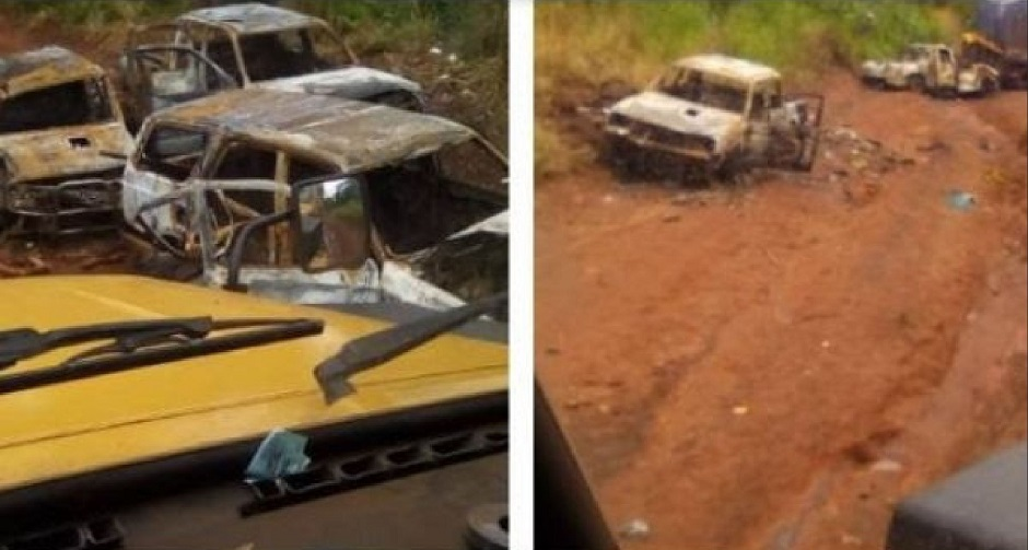 """The attacked convoy was formed by evangelical Christians. / Photo: <a target=""""_blank"""" href=""""https://aeafrica.org/"""">Association Evangelicals Africa</a>.,"""