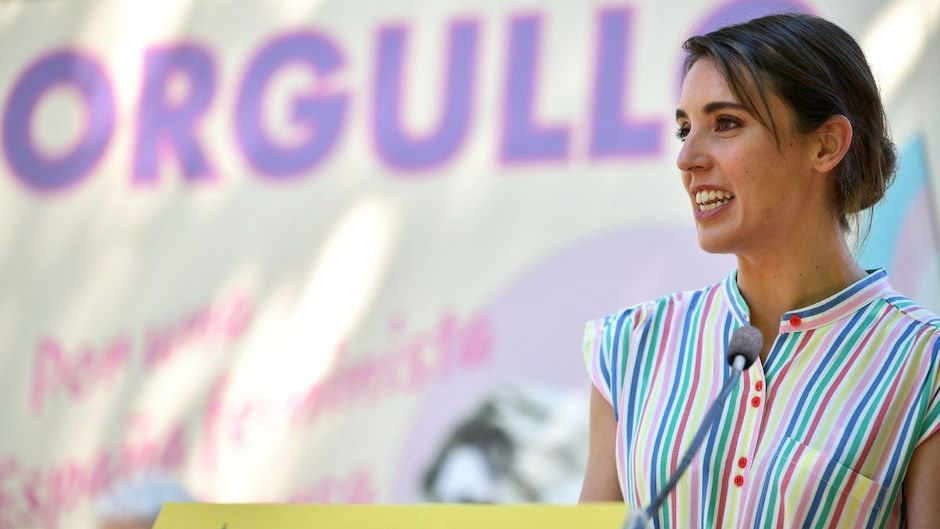 """The Spanish Minister of Equality, Irene Motero, of government coalition partner Podemos. / Photo: <a target=""""_blank"""" href=""""https://www.igualdad.gob.es/Paginas/index.aspx"""">Ministry of Equality of Spain</a>.,"""