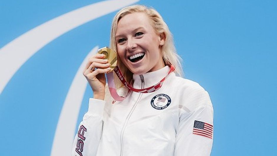 Jessica Long won 6 medals in the Tokyo 2020 Paralympics, including 3 golds. / Twitter Team USA.,