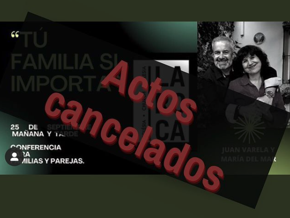 The church announced on social media that it had cancelled the workshops on family and sexuality.