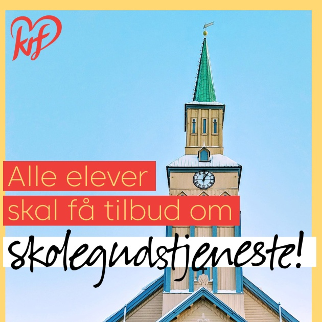 The Christian Democratic Party defends the worship services in schools. / Facebook KrF